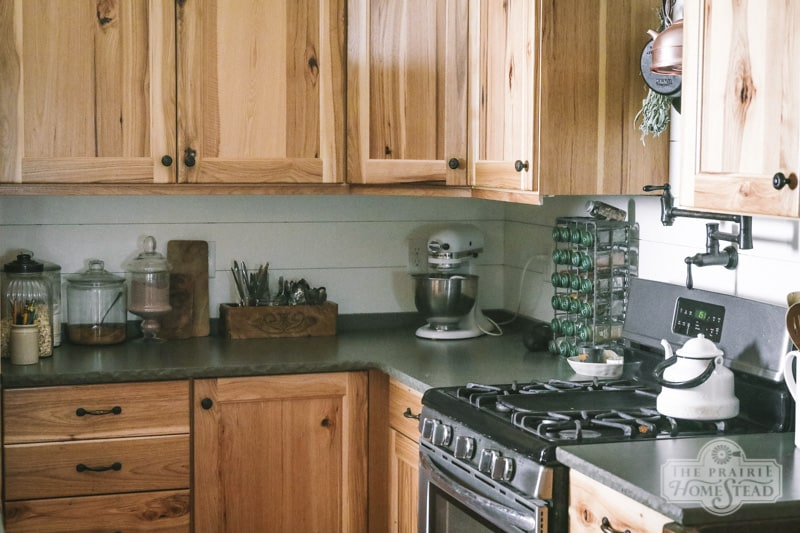 diy shiplap kitchen backsplash