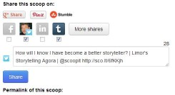 Social media sharing on Scoop.it
