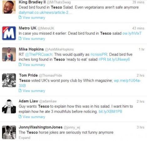 Tesco food quality issue generates jokes
