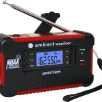Ambient Weather WR-111B Emergency Solar Hand Crank AM/FM/NOAA Digital Radio