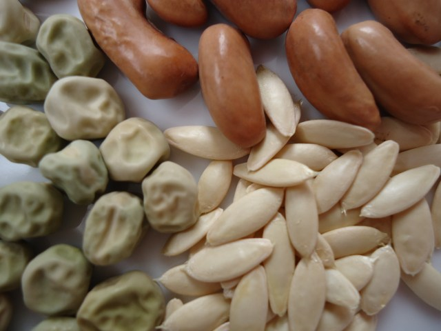 Store a variety of beans. This will add variety of color, texture and flavor.