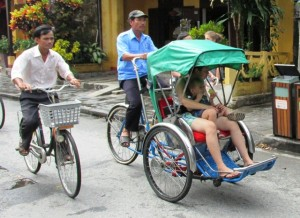 People powered machines are still very much a part of life in Vietnam