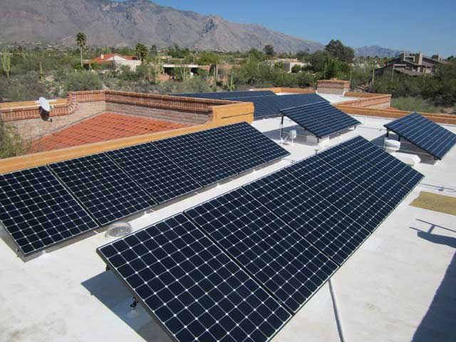 Solar panels mounted to the roof will reduce risk of detection or theft.