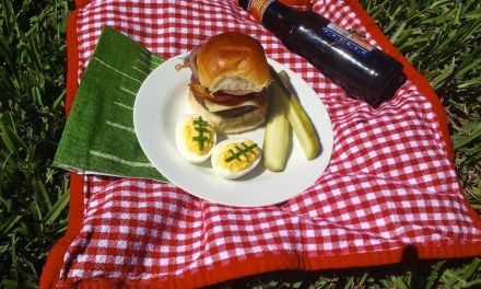 Hickory Smoked BBQ Sliders and Deviled Egg Footballs