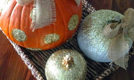 Glamorous and Glittered Pumpkins