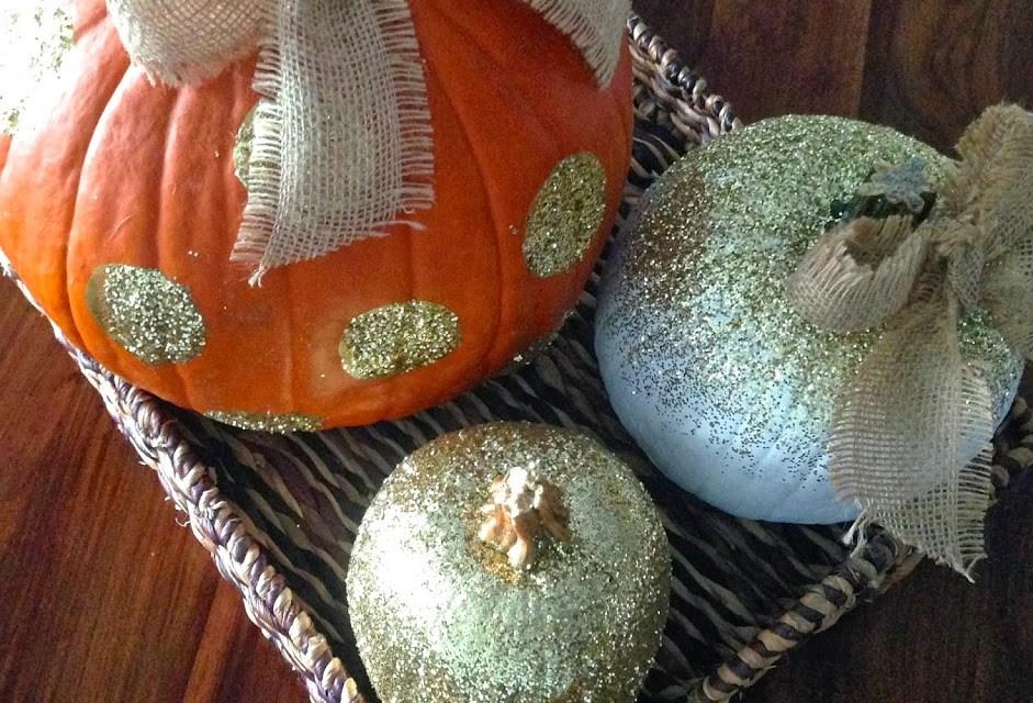 Glamorous and Glittered Pumpkins