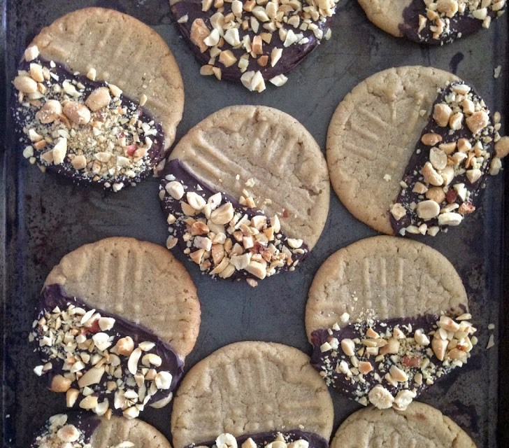 Chautauqua Lake Chocolate Dipped Peanut Butter Cookies