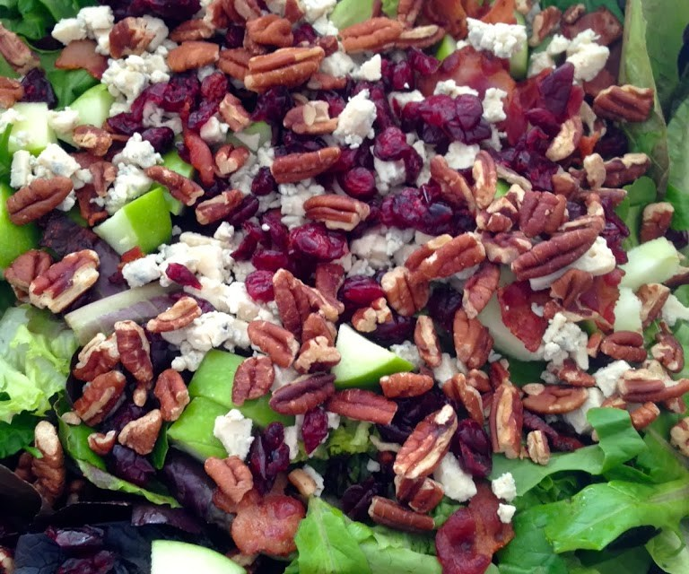 New England Autumn Salad with Sweet Balsamic Dressing
