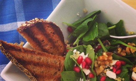 Spinach Salad with Quinoa and Pomegranates