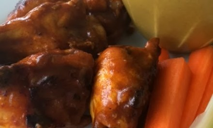 Baked Buffalo Chicken Wings with Blue Cheese Dip