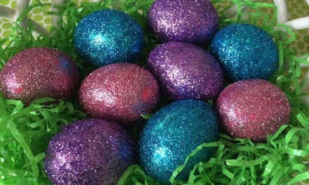 Glittered Easter Eggs
