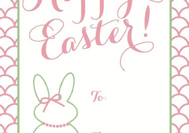 Easter Gift Tag Printable