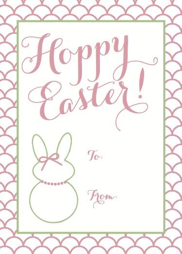 Easter Gift Tag Printable