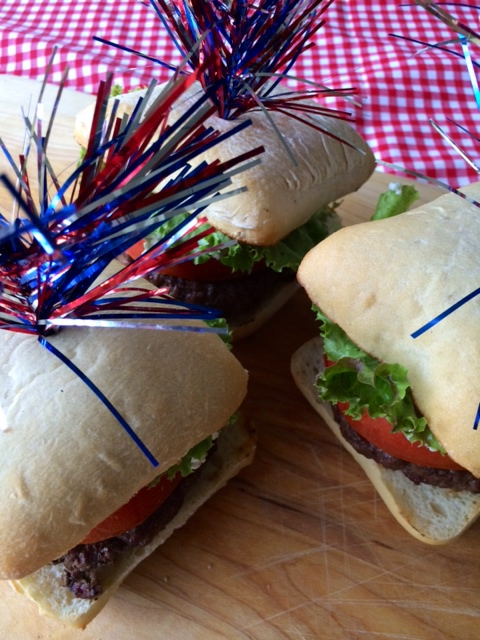 Red, White and Blue Burgers