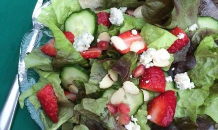 Pomegranate and Strawberry Salad