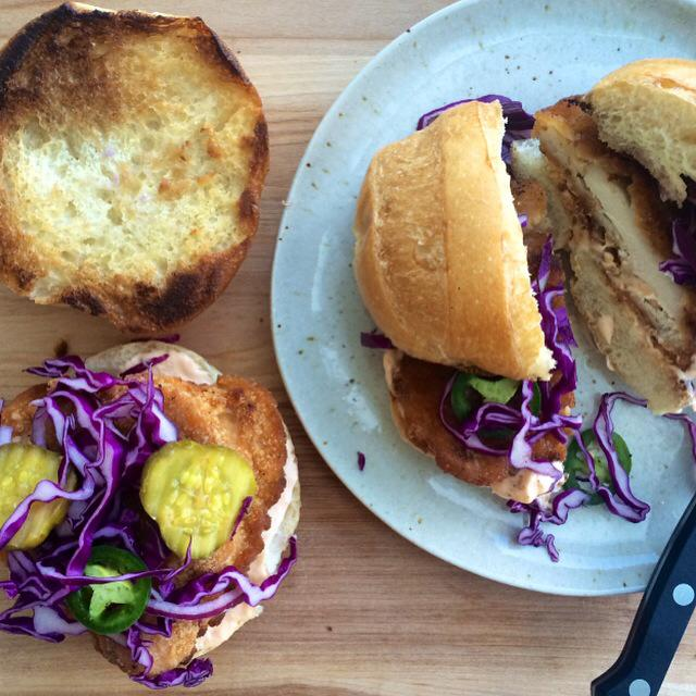 Southern Fried Chicken Sandwich with Zesty Slaw