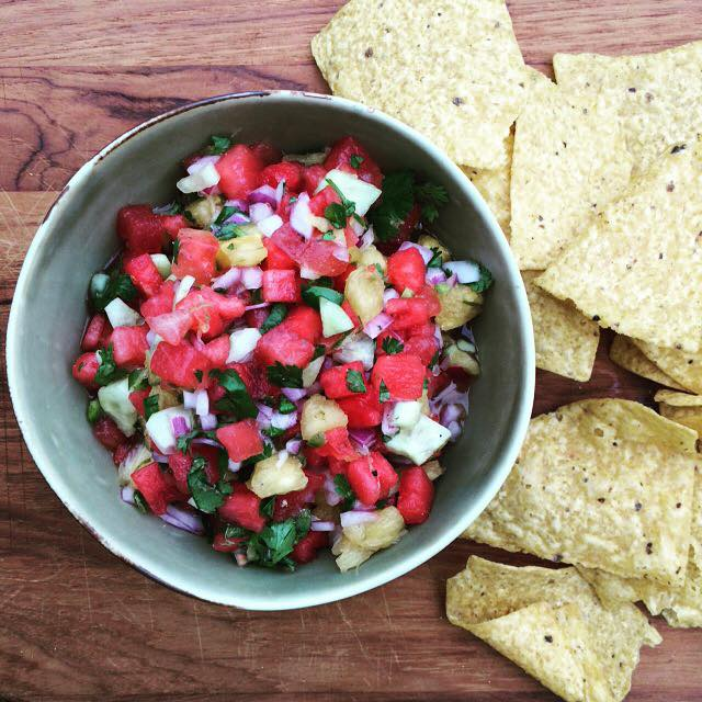 Watermelon and Pineapple Salsa