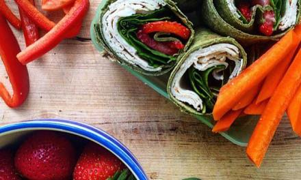 Turkey and Strawberry Spinach Salad Wrap