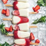 Strawberry and Vanilla Yogurt Popsicles
