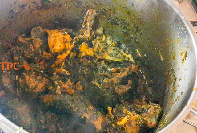 afang soup in a pot