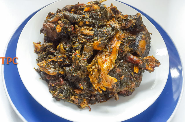 A bowl of fingerlicking afang soup