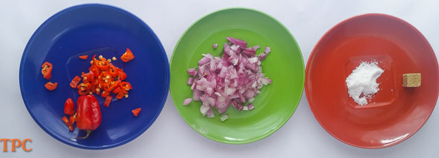 ingredients for ojojo water yam fritters