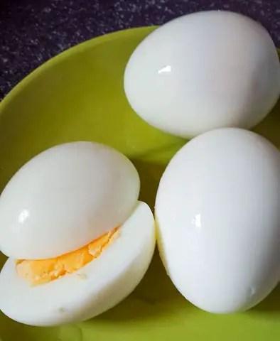peeled boiled egg for boiled egg sandwich