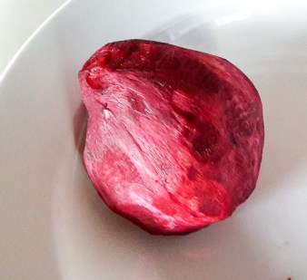 peeled beetroot for beetroot coleslaw