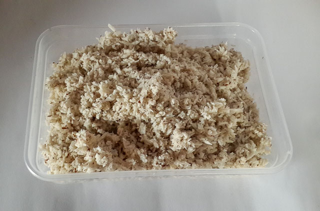 shredded coconut for Indian coconut ladoo