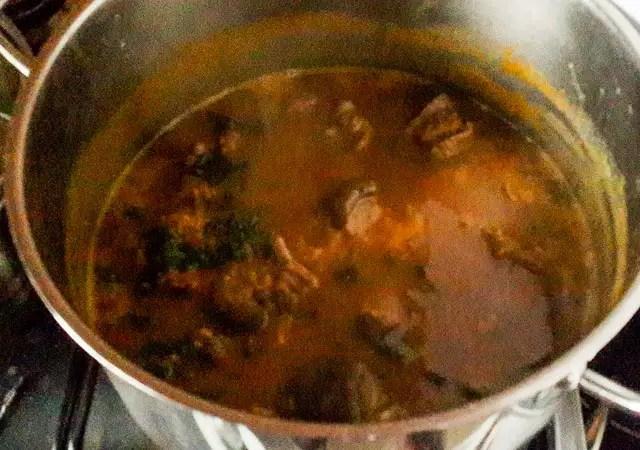 pot of nsala soup