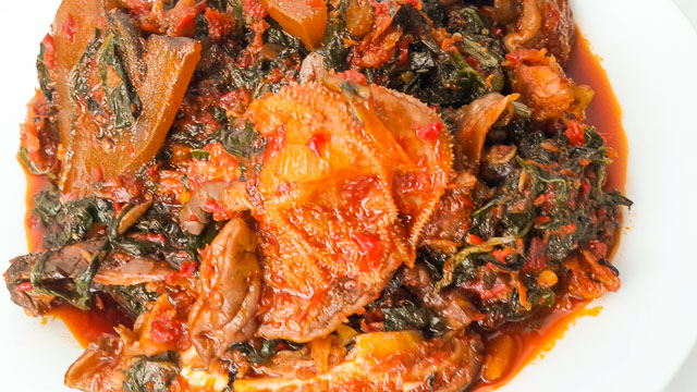 rich Efo riro (vegetable soup)