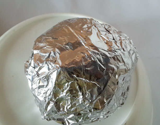 achicha wrapped in foil for achicha, dry cocoyam
