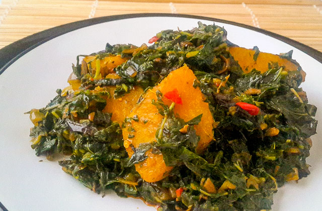 Vegetable yam (ji akwukwo) - The Pretend Chef