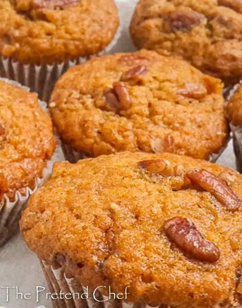 Soft and moist sweet potato muffins