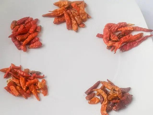 Dry pepper