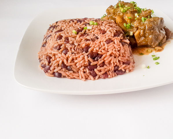 Flavour infused Jamaican rice and peas