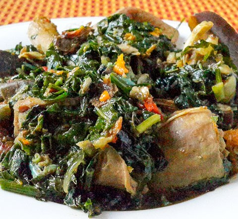 Delectable, fresh and crisp, nigerian vegetable-soup