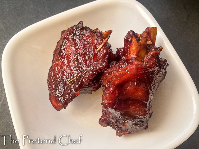 Fried barbecued turkey wing