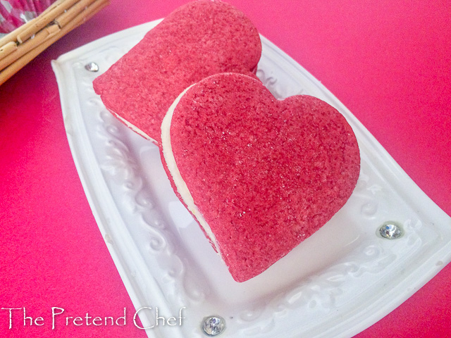 Colourful and delightful Valentine sugar cookies