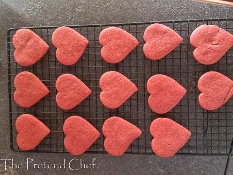 baked valentine sugar cookies