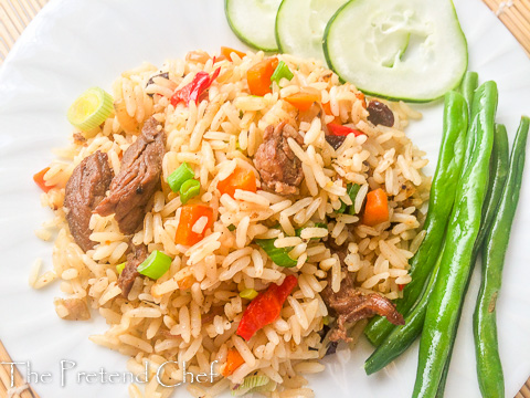 Rich, flavourful and sensuous vegetable coconut rice