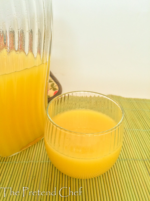 Delicately sweet and aromatic cashew fruit juice