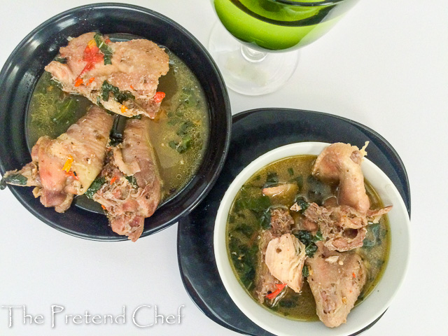 Spicy, hot, flavourful and tender chicken pepper soup, comfort food at its best.