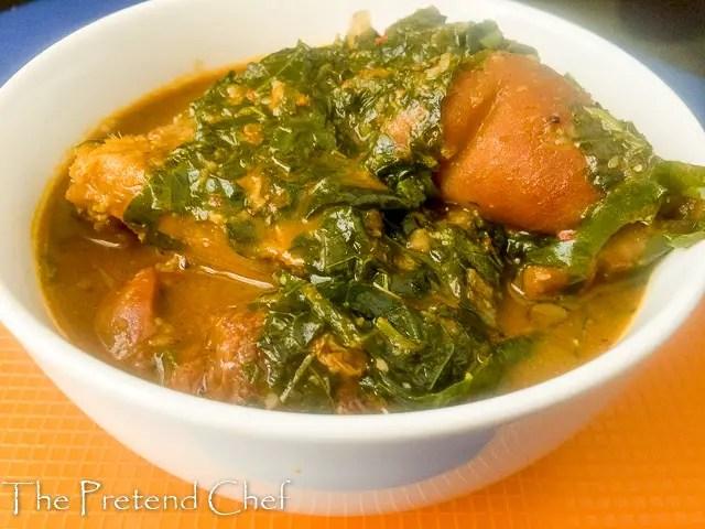 Easy Ugu soup, ofe ugu