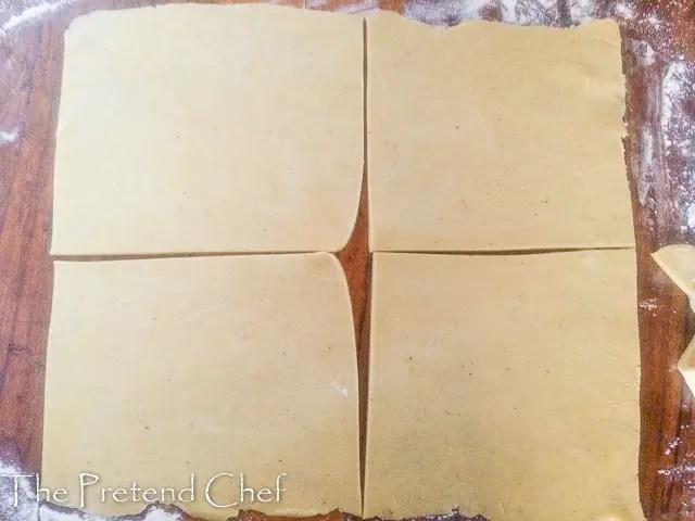 dough cut for Nigerian fish pie