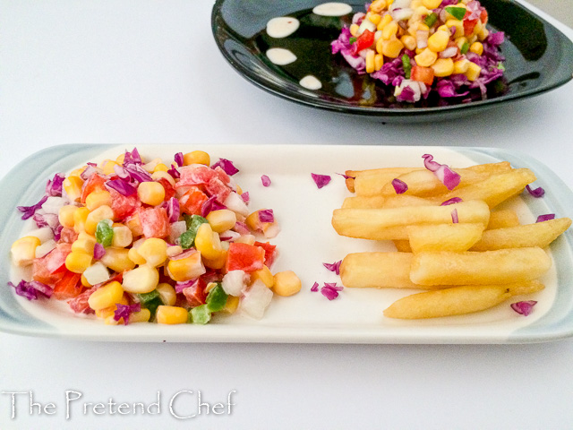 Colourful and fresh Sweet corn salad