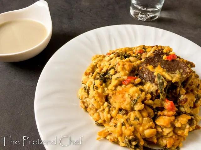 African breadfruit pottage, Ukwa etelu ete