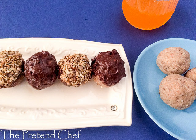 Chocolate coated Tiger nut energy balls