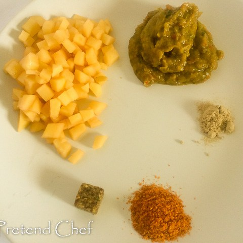 ingredients for Minced beef Herb Empanada filling