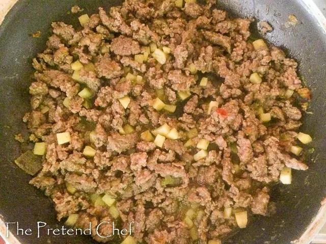 Minced beef Herb Empanada filling